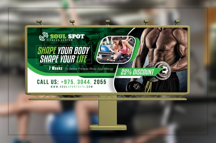 Thumbnail for Fitness Gym Billboard