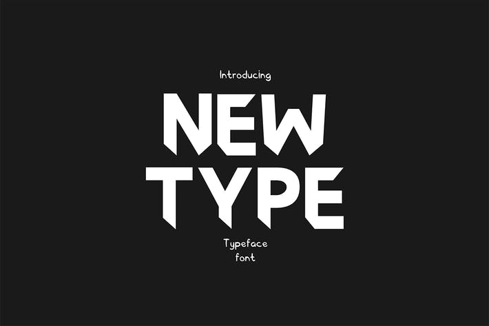 Thumbnail for Newtype Typeface Font