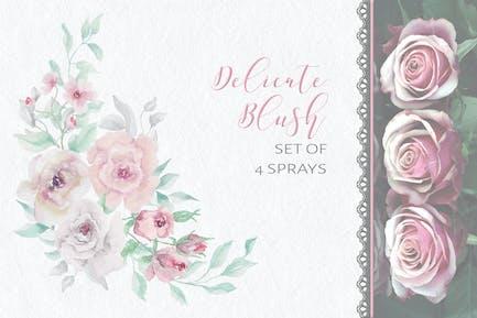 Delicate Blush: Set of Sprays