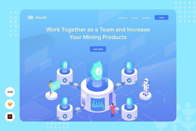 Working Together -  Website Header - Illustration