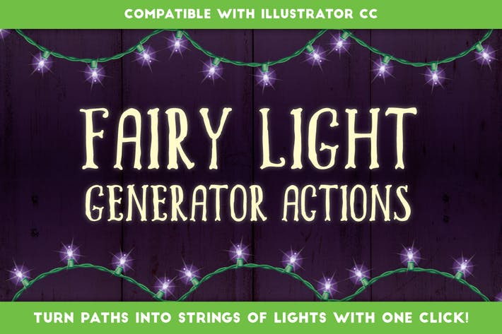 Cover Image For Fairy Light Generator  - Illustrator Actions