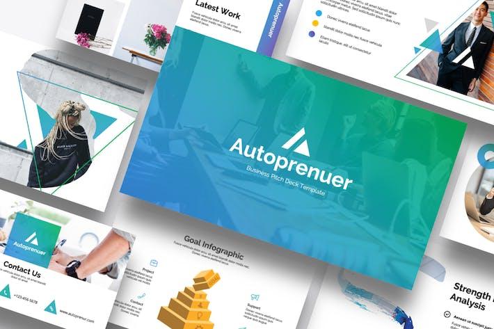Thumbnail for Autopreneur - Business Google Slide Template