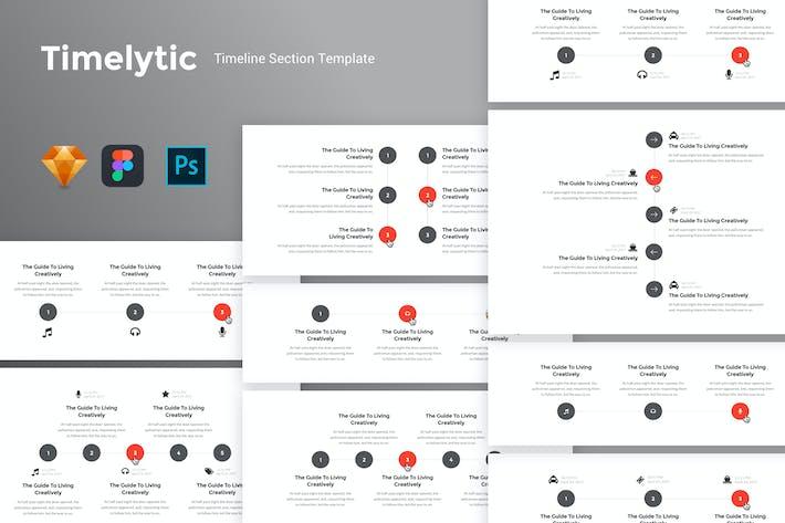 Thumbnail for Временная шкала - Шаблон набора пользовательского интерфейса раздела временной шкалы