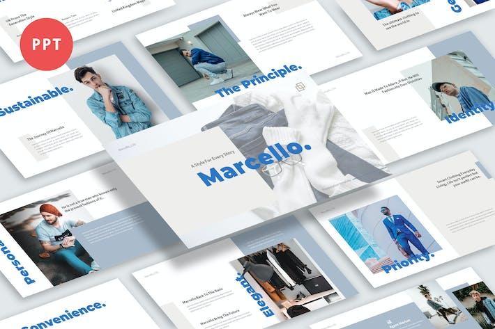 Thumbnail for Marcello — Мужская одежда Бизнес Powerpoint Шаблон