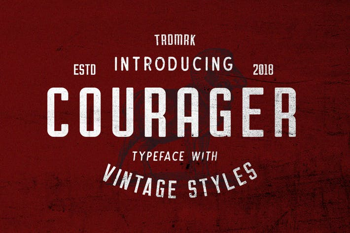 Thumbnail for Courager Typeface (8 Fonts!)
