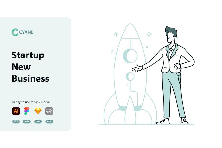 Cyane - Startup New Business Illustration
