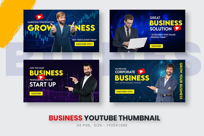 Business Solutions Youtube Thumbnail Template
