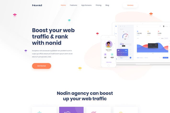 Thumbnail for Nonid - Responsive Business Drupal Tema