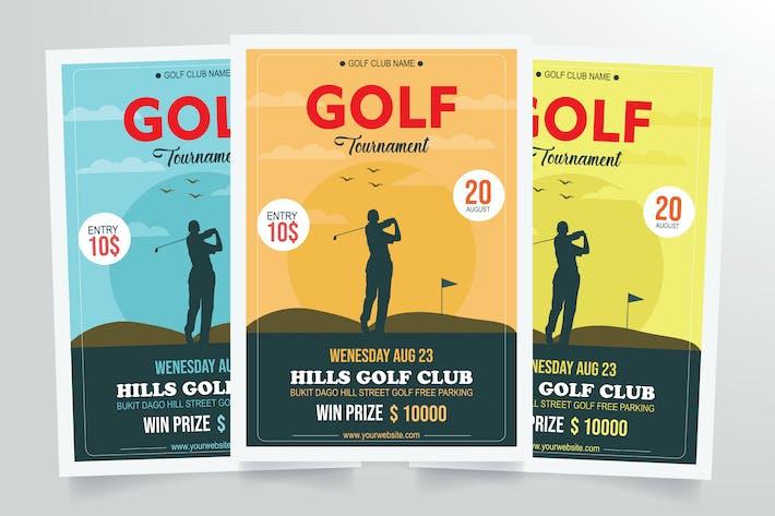 Thumbnail for Golf Tournament Flyer Template