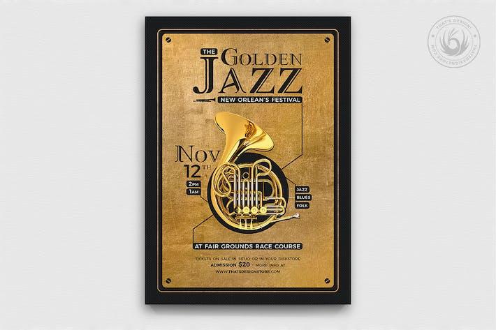 Thumbnail for Golden Jazz Flyer Template V4