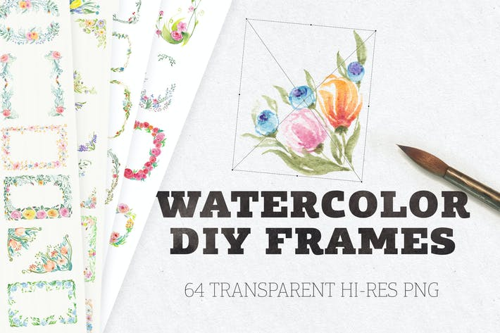 Thumbnail for Watercolor DIY Frames