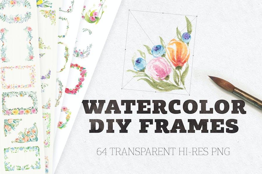 Watercolor DIY Frames