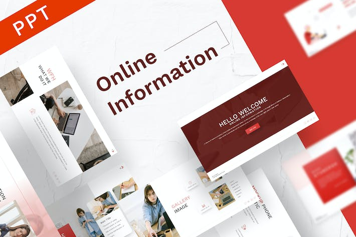 Thumbnail for Online Information Powerpoint Template