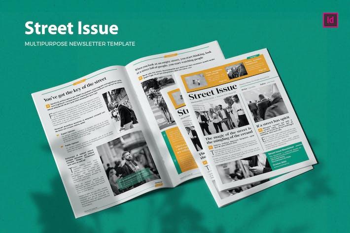 Thumbnail for Street Issue - Newsletter Template
