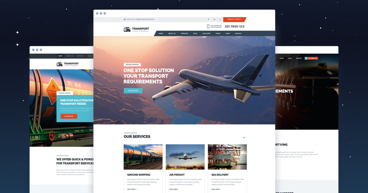 Download Transport - Logistic & WareHouse PSD Template by Unknow