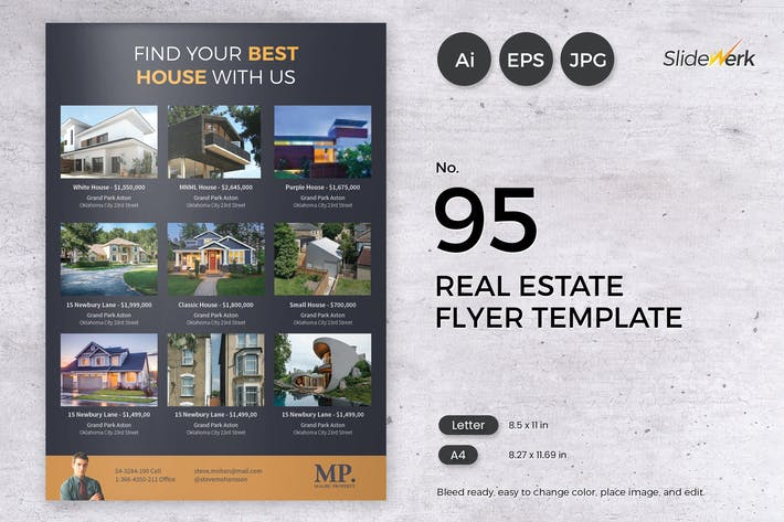 Thumbnail for Real Estate Flyer Template 95 - Slidewerk