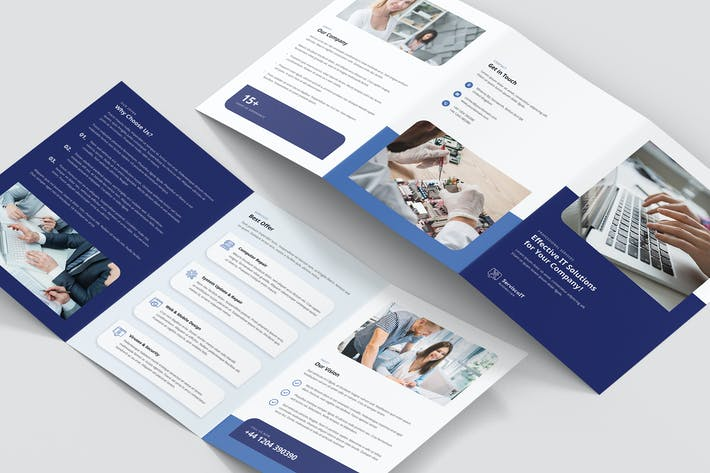 Thumbnail for Brochure – IT Services Tri-Fold A5