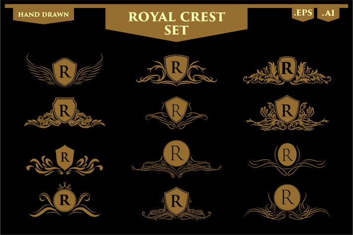 Thumbnail for Set of Luxury Royal Crest