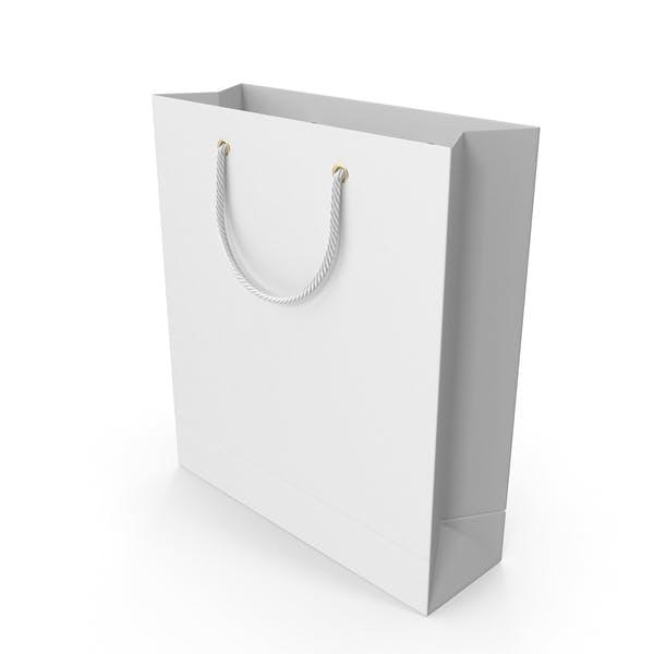 Белая сумка для покупок с белыми ручками