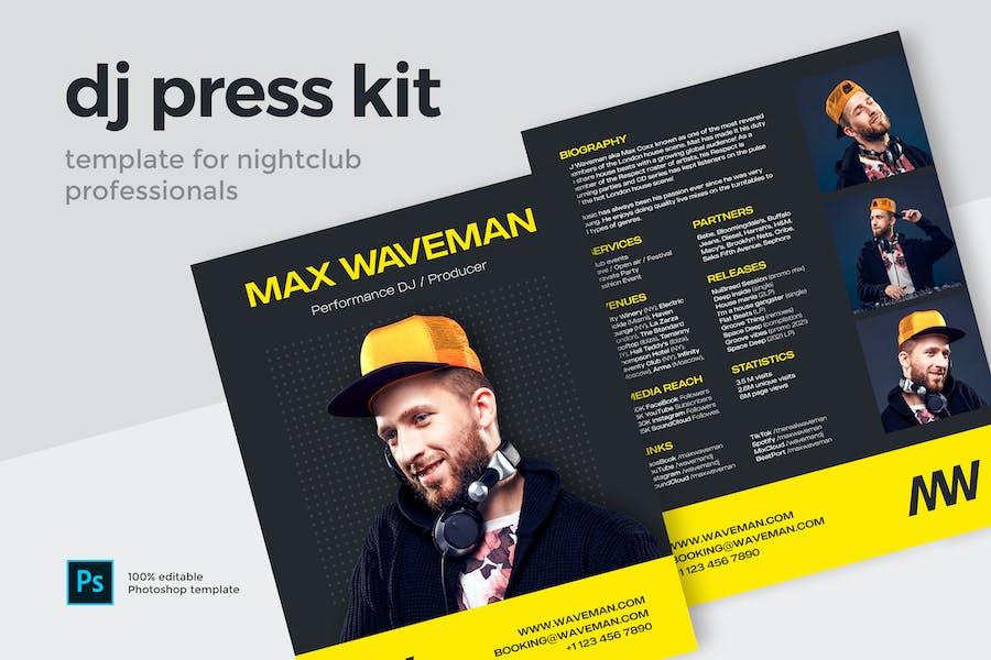 DJ Press Kit Template
