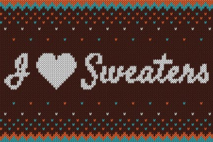 I ♥ Sweaters - Smart Knitted Effect