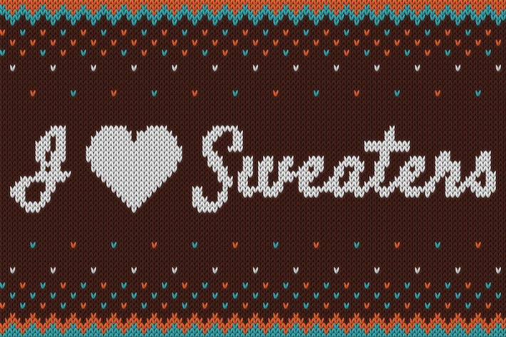 Thumbnail for I ♥ Sweaters - Smart Knitted Effect