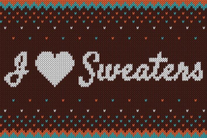 Thumbnail for Pulls I ♥ - Effet tricoté intelligent