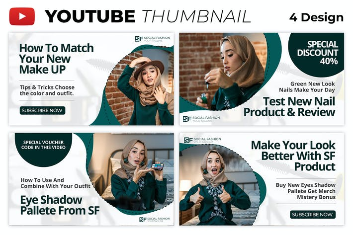 Cosmetic Review Youtube Thumbnail Template