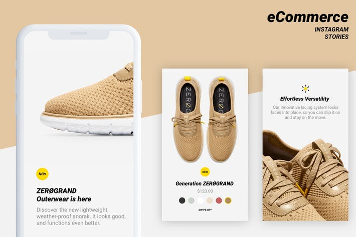 Thumbnail for Ecommerce Instagram stories templates