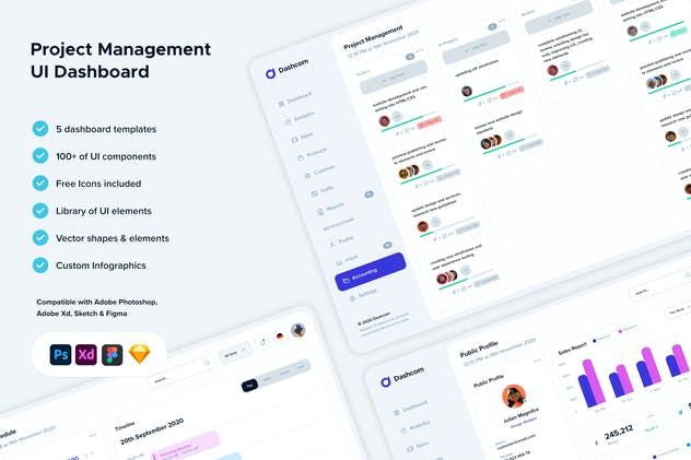 Project Management UI Dashboard
