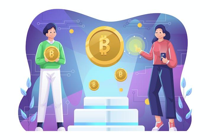 Kryptowährung Illustration