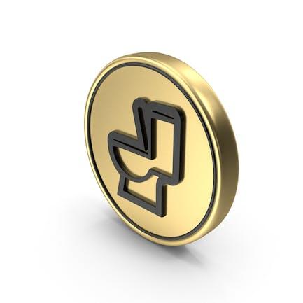 Toilet Coin Logo Icon