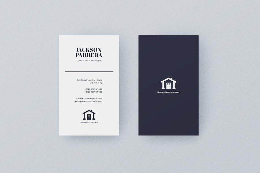 Vertical Business Card Construction Vol. 5