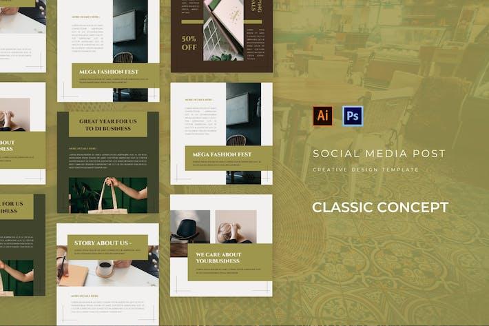 Klassisches Konzept Social Media Post