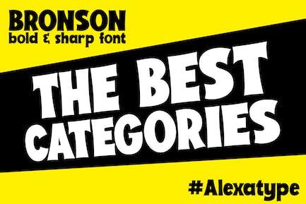 BRONSON - Bold and Sharp font