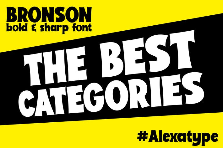 Thumbnail for BRONSON - Bold and Sharp font