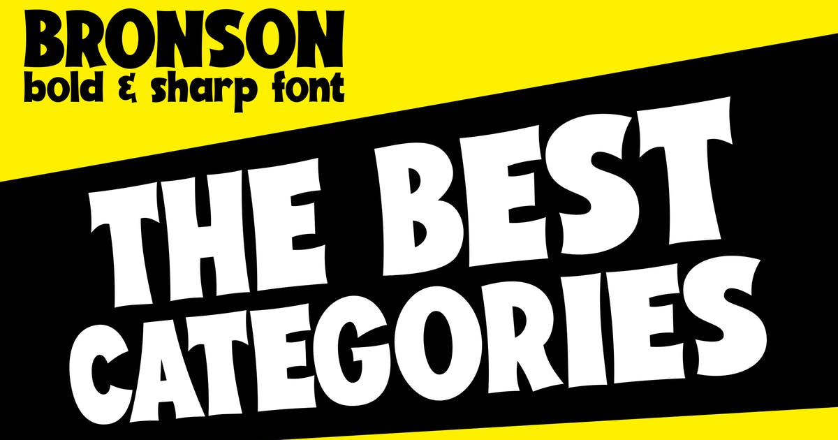 Download BRONSON - Bold and Sharp font by alexacrib