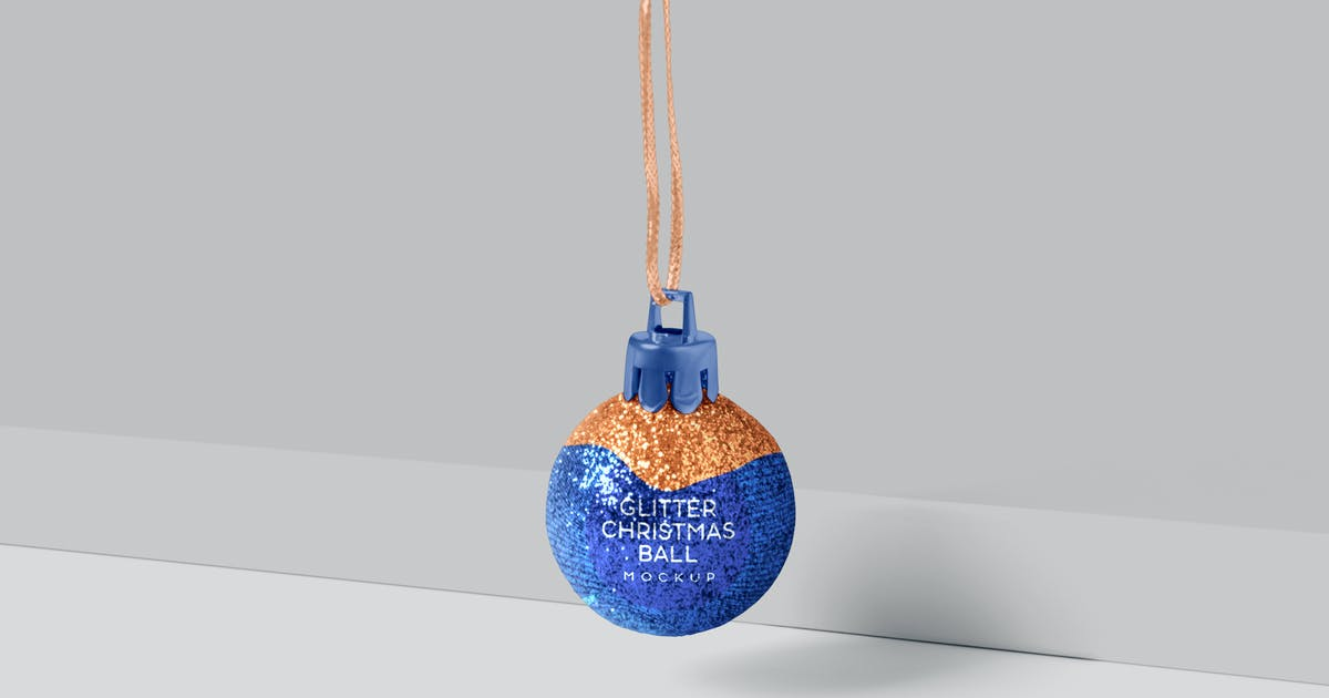 Download Glitter Christmas Ball Mockup by GfxFoundry