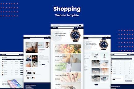 Website-Vorlage für E-Commerce-Einkäufe