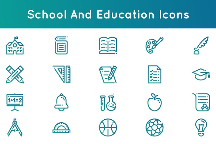 Thumbnail for School and Education Icons