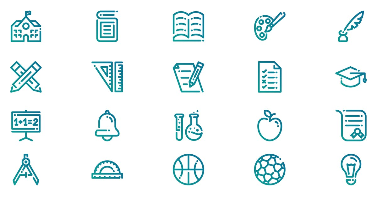 Download School and Education Icons by 3ab2ou