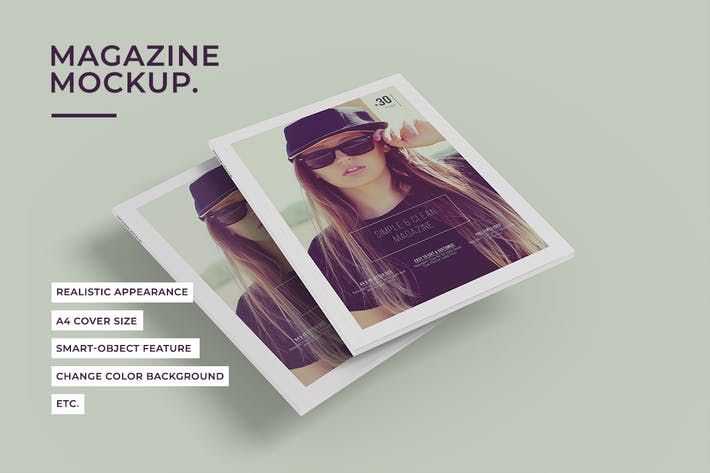 Thumbnail for A4 Magazine Mock-Ups