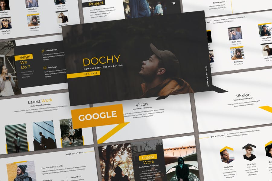 Dochy Творческий Бизнес Google Слайд