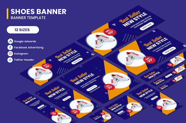 Shoes Banners Ads Template