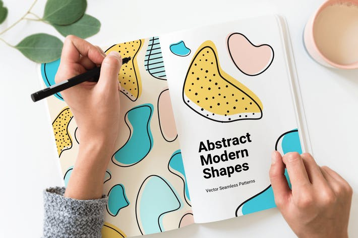Thumbnail for Abstract Modern Shapes Seamless Patterns