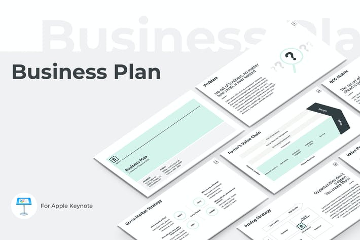 Thumbnail for Business Plan Keynote Presentation Template