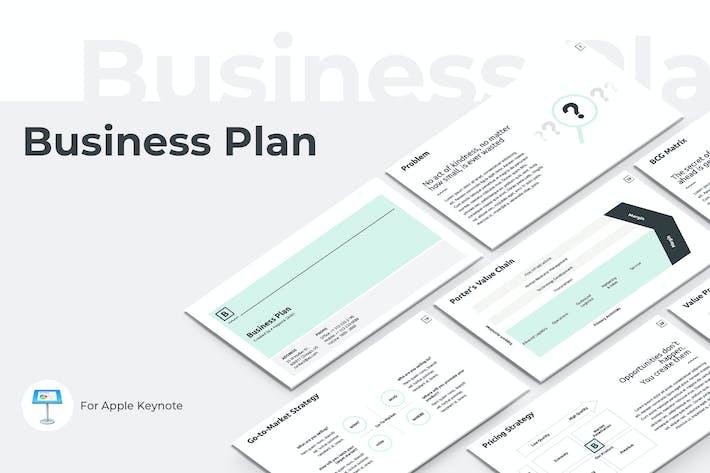 Thumbnail for Vorlage für GeschäftsplanKeynote Präsentation
