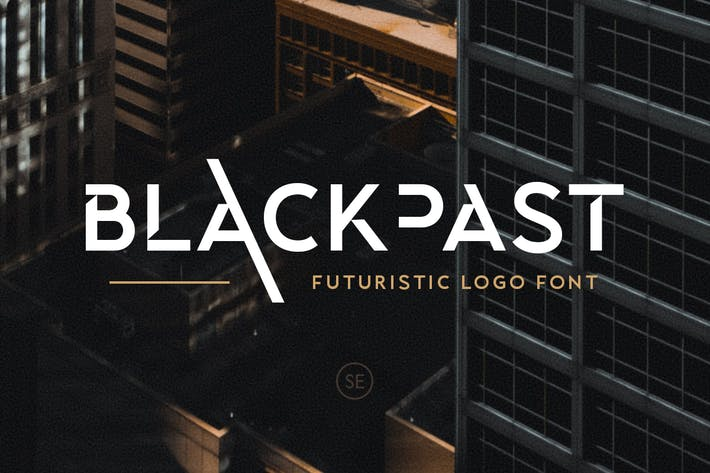 Thumbnail for Blackpast - Futuristic Logo Font