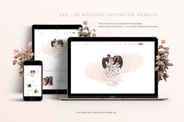 143 - Xd Wedding Invitation Website Template