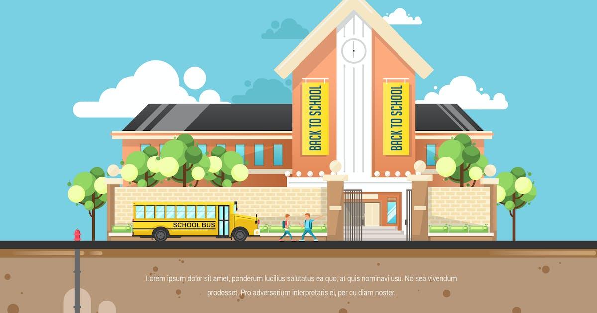 Download Back to School - Vector Landscape & Building by aqrstudio